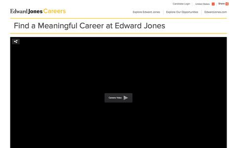 Find a Meaningful Career - Edward Jones