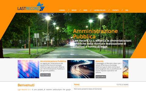Screenshot of Press Page lastrecord.it - Last record, Commercializzazione servizi fornitura energia, Fornitura energia elettrica Bra, Fornitura gas Bra,  Riqualificazione dell'Illuminazione Pubblica - captured Oct. 1, 2014