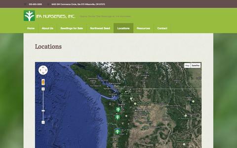 Screenshot of Locations Page ifanurseries.com - Locations | IFA Nurseries - captured Oct. 3, 2014