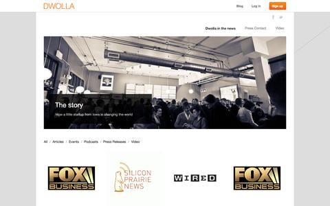 Screenshot of Press Page dwolla.com - Dwolla In The News - captured Sept. 15, 2014