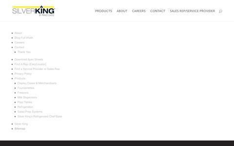 Screenshot of Site Map Page silverking.com - Sitemap - Silver King - captured Oct. 21, 2017