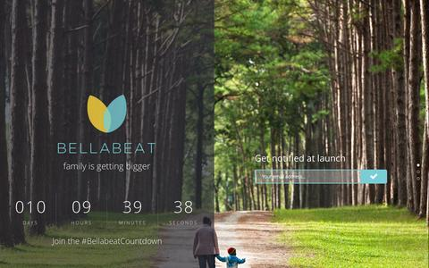 Screenshot of Support Page bellabeat.com - Bellabeat - The Countdown has Started! - captured Sept. 13, 2014