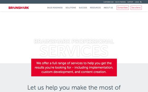 Screenshot of Services Page brainshark.com - Professional Services | Brainshark | Brainshark - captured Oct. 2, 2017