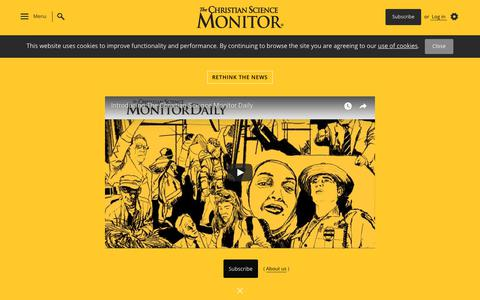 Screenshot of Home Page csmonitor.com - The Christian Science Monitor - CSMonitor.com - captured Sept. 21, 2018