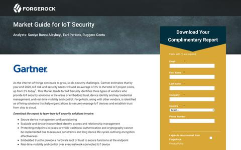 Screenshot of Landing Page forgerock.com - Market Trends: Rise of Identity and Access Management in the IoT Era - captured June 23, 2017