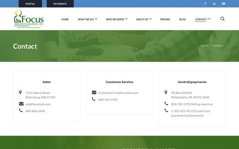 Screenshot of Contact Page focustele.com - Contact | Focus Telecommunications - captured Oct. 10, 2018