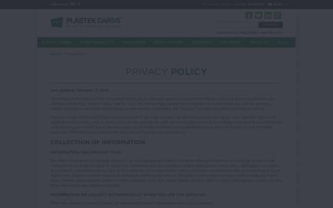 PlastekCards.com Privacy Policy