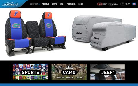 Screenshot of Home Page coverking.com - Custom Car Covers | Custom Seat Covers | Dash Covers | Car and Truck Floor Mats - Coverking® - captured July 22, 2018