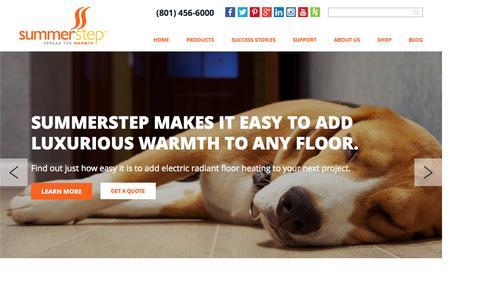 Screenshot of Home Page summerstep.com - Summerstep Electric Radiant Floor Heating - captured Aug. 4, 2015
