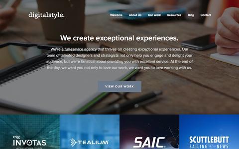 Screenshot of Home Page getdigitalstyle.com - Web Design and Digital Marketing Agency | Digital Style - captured Jan. 24, 2015