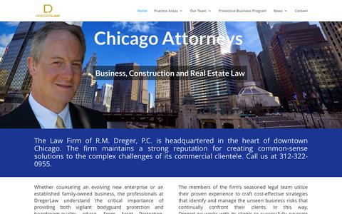 Screenshot of Home Page dregerlaw.com - Dreger Law | Chicago Attorney | Commercial Law | Just another WordPress site - captured Jan. 26, 2016