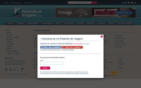 Screenshot of Signup Page falandodeviagem.com.br - Falando de Viagem | - captured June 5, 2017