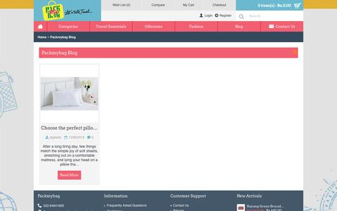 Screenshot of Blog packmybag.in - Packmybag Blog - captured July 10, 2016
