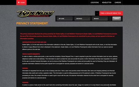 Screenshot of Privacy Page ridenow.com - Privacy | RideNow Powersports | Tempe Arizona - captured Oct. 6, 2014