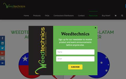 Screenshot of Press Page weedtechnics.com - News - Saturated Steam Weed Killer - captured Sept. 21, 2018