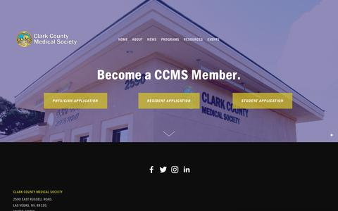 Screenshot of Signup Page clarkcountymedical.org - Membership — Clark County Medical Society - captured Sept. 28, 2018