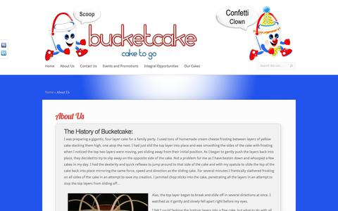 Screenshot of About Page bucketcake.com - About Us | Bucketcake - captured June 3, 2017