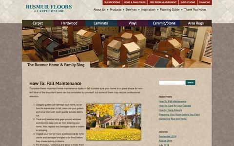 Screenshot of Blog rusmurfloorscarpetone.com - Rusmur Floors | Home & Family Blog - captured Sept. 30, 2014