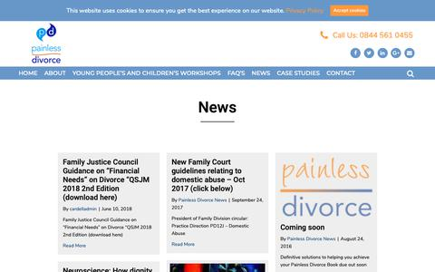 Screenshot of Press Page painlessdivorce.co.uk - BBC Radio Divorce Interview Podcast | Painless Divorce - captured Sept. 29, 2018