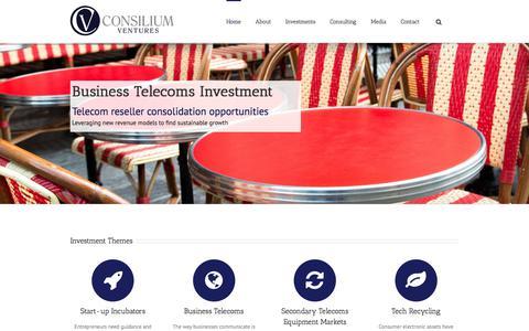 Screenshot of Home Page consiliumventures.com - Home - Consilium Ventures - captured Aug. 26, 2017