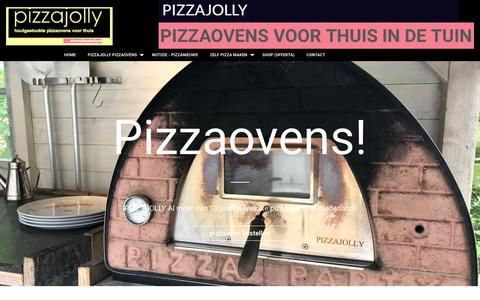 Screenshot of Home Page pizzajolly.nl - Pizzaovens voor in de tuin PIZZAJOLLY Houtgestookte pizzaoven - captured July 24, 2018