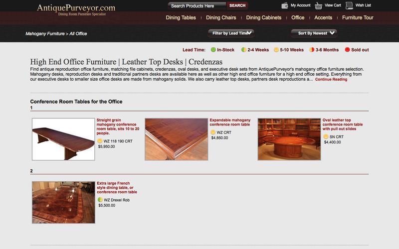 Leather Top Desk, Mahogany Desk & Partners Desk Furniture
