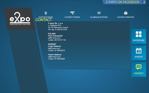 Screenshot of Contact Page 2-expo.com - 2 Expo - Contact - captured Sept. 21, 2018