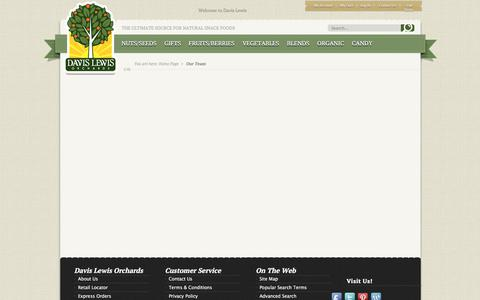 Screenshot of Team Page davislewisorchards.com - Our Team - captured Sept. 29, 2017