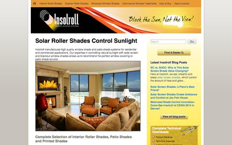 Screenshot of Home Page insolroll.com - Roller Shades, Window Shades & Window Treatments - captured Oct. 6, 2014