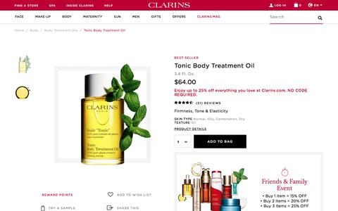 Tonic Body Treatment Oil - Toning Oil - Clarins