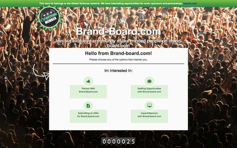 Screenshot of Contact Page brand-board.com - Brand-board.com - Contact Us - captured July 30, 2016