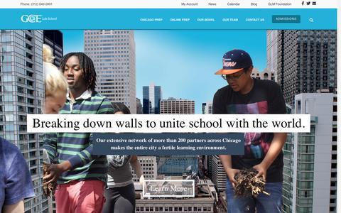 Screenshot of Home Page gcelabschool.com - Home   GCE Lab School - captured June 18, 2015