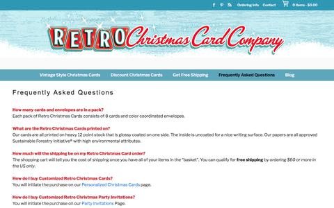 Frequently Asked Questions - Retro Christmas Cards