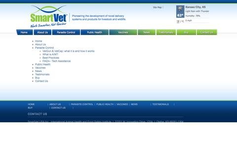 Screenshot of Site Map Page smartvet.com - Sitemap - captured Oct. 7, 2014