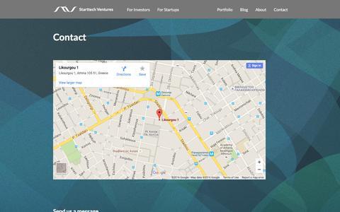 Screenshot of Contact Page starttech.eu - Contact – Starttech Ventures - captured Feb. 23, 2016