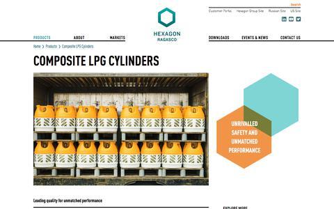 Screenshot of Products Page hexagonragasco.com - Composite LPG Cylinders - Hexagon Ragasco - captured Sept. 25, 2018