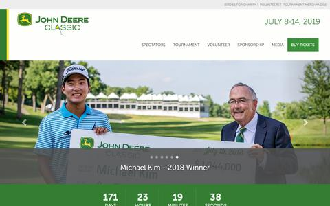Screenshot of Home Page johndeereclassic.com - John Deere Classic › Welcome - captured Jan. 17, 2019