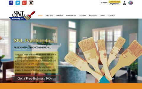 Screenshot of Home Page snlpainting.com - SNL Painting Inc. | Commercial & Residential Painters St. Louis - captured Oct. 1, 2018