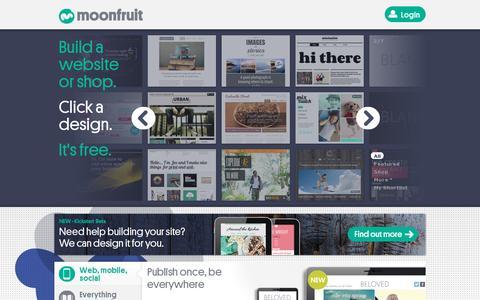 Screenshot of Home Page moonfruit.com - Free Website Builder | Make Your Own Website | Moonfruit - captured July 17, 2014