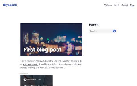 Screenshot of Blog wordpress.com - Blog – Brynbank - captured Oct. 11, 2017