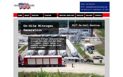 Screenshot of Home Page atlanticnitrogen.com - Atlantic Nitrogen - captured Sept. 13, 2015