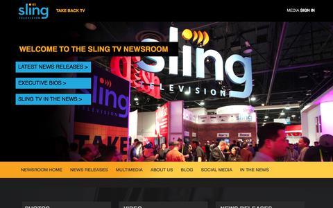 Screenshot of Press Page sling.com - Sling TV Online Newsroom | - captured Dec. 29, 2015