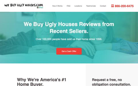 Screenshot of Testimonials Page webuyuglyhouses.com - We Buy Ugly Houses® Reviews & Testimonials from Recent Sellers | We Buy Ugly Houses® - captured Aug. 12, 2019