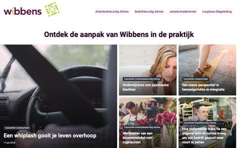 Screenshot of Home Page wibbens.nl - Wibbens - Concrete handvatten voor een succesvolle re-integratie - captured Oct. 18, 2018