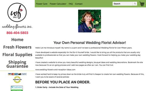 Screenshot of FAQ Page Terms Page weddingflowersinc.store - Read BEFORE Ordering - captured July 11, 2018
