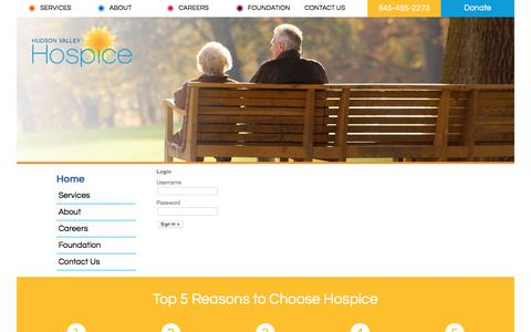 Screenshot of Login Page hvhospice.org - Hudson Valley Hospice :: Login - captured Sept. 2, 2017