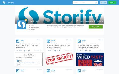 Storify's social stories · Storify
