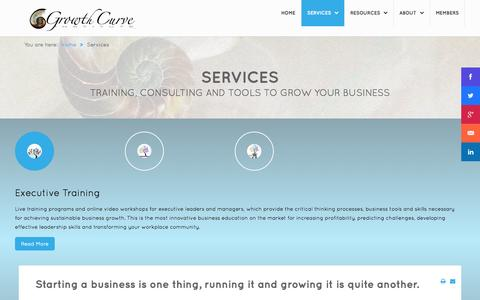 Screenshot of Services Page sustainablebusinessgrowth.com - Services - captured Oct. 31, 2014
