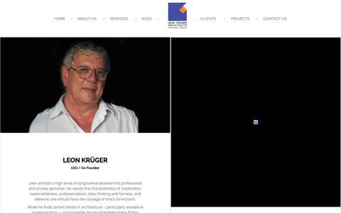 Screenshot of Team Page leonka.co.za - The Team | Leon Kruger Architects - captured Nov. 6, 2016