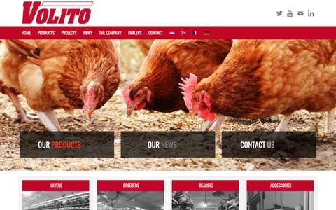 Screenshot of Home Page volito.com - Home - VOLITO - captured Sept. 21, 2018